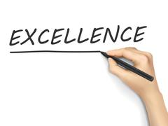 Excellence word written by hand Stock Illustration