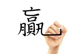 traditional Chinese words for Win - stock illustration