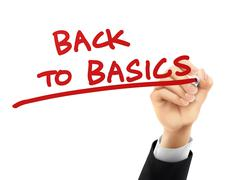 back to basics written by 3d hand - stock illustration