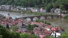 Karl-Theodor-Bridge, Heidelberg Stock Footage