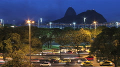 Time lapse - Sugar Loaf and Botafogo Bay in Rio de Janeiro, Brazil – Sunset 4K Stock Footage