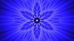 Psychedelic Abstract Blue Kaleidoscope VJ Mandala Background Loop 2 - stock footage