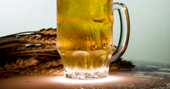 Steamy Mug of Lager 4K - stock footage