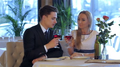 Celebration events at the restaurant - stock footage