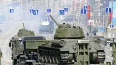 Parade in honor of Second World War Victory Day on May 9. Stock Footage
