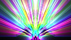 Psychedelic Abstract Colorful Disco Mirror Footlights VJ Background Loop 1 Stock Footage