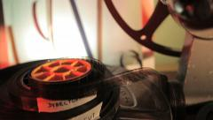 Movie Reel. Film canister final cut. Director cut. Stock Footage