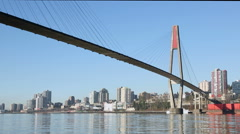 Skytrain Bridge, New Westminster Cityscape Stock Footage