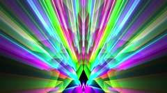 Psychedelic Abstract Colorful Disco Mirror Footlights VJ Background Loop 2 - stock footage