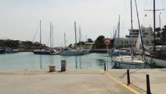 Panorama of Port Cristo's marina Stock Footage