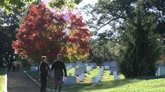 Footage of Arlington National Cemetery Stock Footage