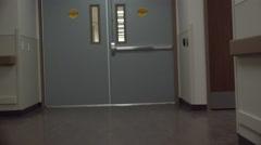 4K Time Lapse Emergency POV Rush Through Hospital Hallways ED Stock Footage
