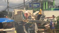 Philippine garbage service Stock Footage