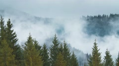 5 in 1 video! The mountain foggy cyclone time lapse - stock footage