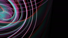 Fantastic animation with particle stripe object in motion, loop HD 1080p Stock Footage