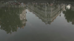 Canal Saint Martin - Reflection on water Stock Footage