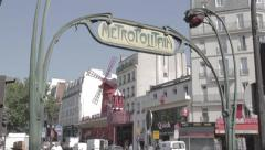 Metro Moulin Rouge Stock Footage