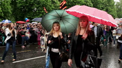 1st Victory Parade in Donetsk. Immortal regiment. May 9, 2015, Full HD Stock Footage