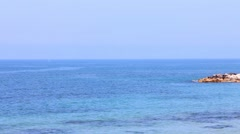 Mediterranean Sea at the spring - stock footage