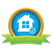 House with tick mark icon Stock Illustration