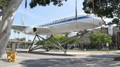 4K Exposition Park Aerospace Museum Stock Footage