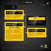 Vector timeline in techno style. - stock illustration