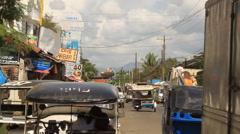 Philippines city street Stock Footage