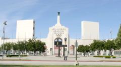 4K Exposition Park Los Angeles Coliseum Stock Footage