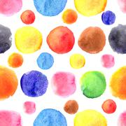 Circular pattern of a different watercolor stains Stock Illustration