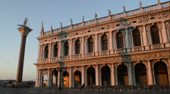 St Marks square at sunrise -Venice Italy  Stock Footage
