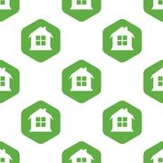 House pattern Stock Illustration