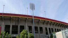 4K Exposition Park Los Angeles Coliseum Gate Stock Footage