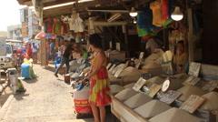 Puerto Princessa marketplace prepares to open Stock Footage