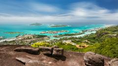Seychelles Long Exposure Timelapse - stock footage