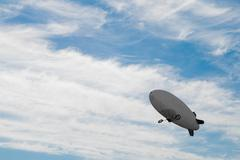 airship in the sky - stock photo