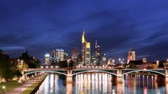 Frankfurt am Main Skyline - Hyperlapse - 4K UHD Stock Footage