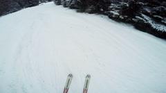 Education ski slopes Stock Footage