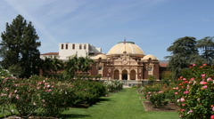 4K Natural History Museum Rose Garden Los Angeles Stock Footage