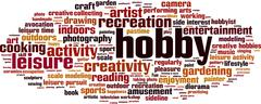 Hobby word cloud Stock Illustration