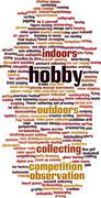 Hobby word cloud - stock illustration