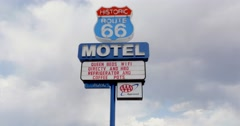 Historic Route 66 Motel Roadside Sign 4K Stock Video Stock Footage