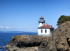 Lighthouse on Puget Sound of Washington State Stock Photos