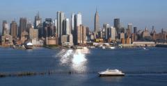 Manhattan New York City Afternoon Skyline 4K Stock Video Stock Footage