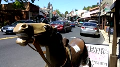 Washington Street in Sonora California Stock Footage