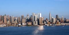 Manhattan New York City Afternoon Skyline 4K Stock Video Stock Footage