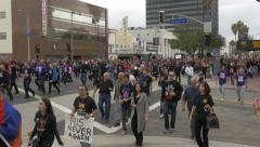 Los Angeles Armenian Genocide March for Justice - stock footage