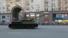 The historical T-34 tank Stock Footage