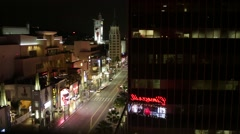 Overhead View of Hollywood Boulevard Los Angeles California Stock Video - stock footage