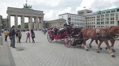Carriage Ride Brandenburgertor 2Clips Stock Footage