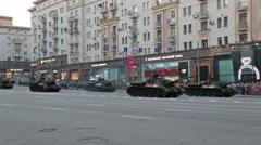 Soviet self-propelled guns SU-100 Stock Footage